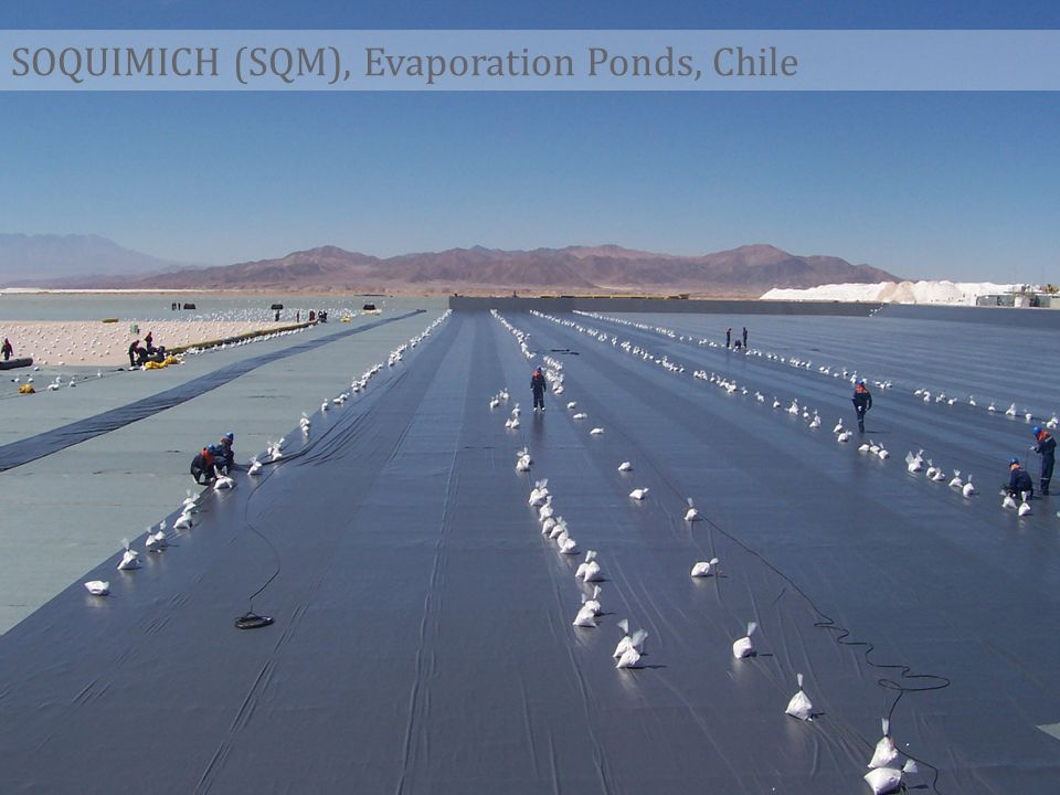 SOQUIMICH (SQM), Evaporation Ponds, Chile