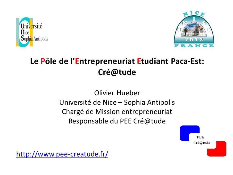 Le Pôle de l'Entrepreneuriat Etudiant Paca-Est: Cré@tude