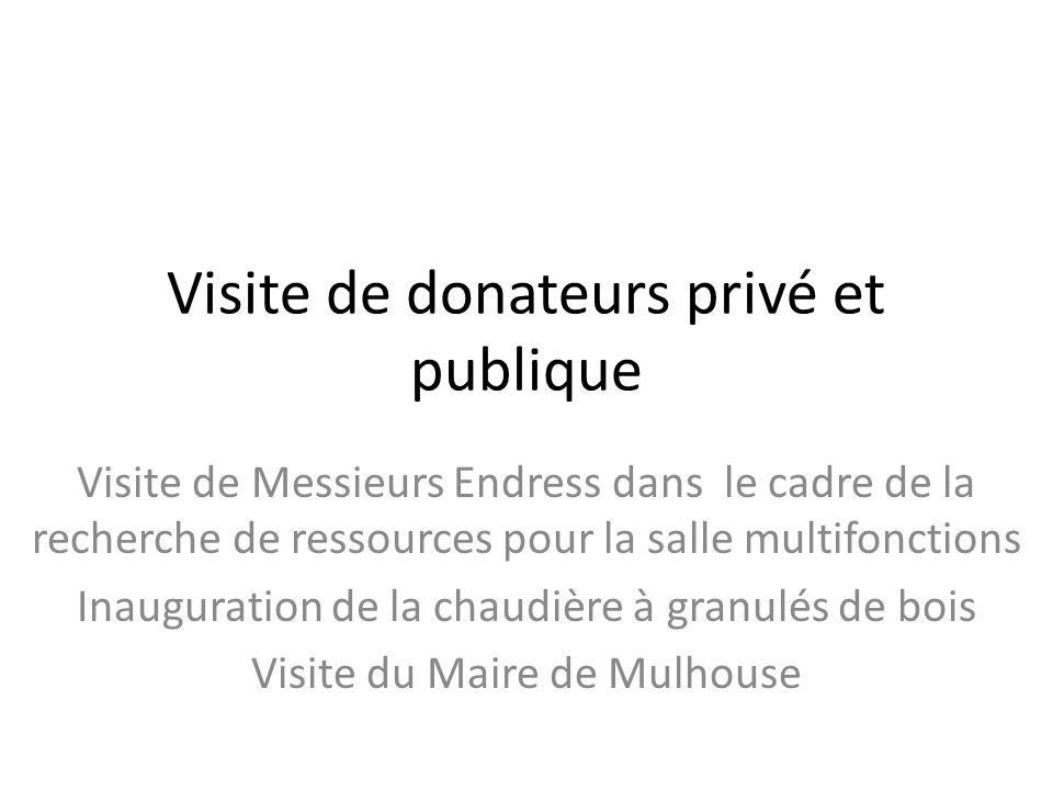Visite de donateurs privé et publique