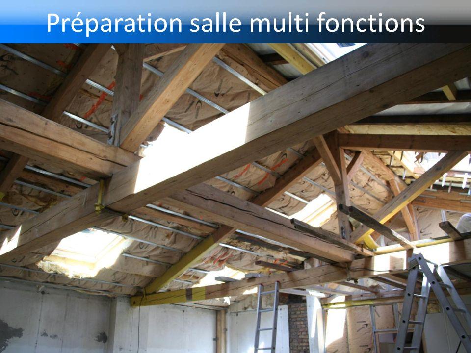 Préparation salle multi fonctions