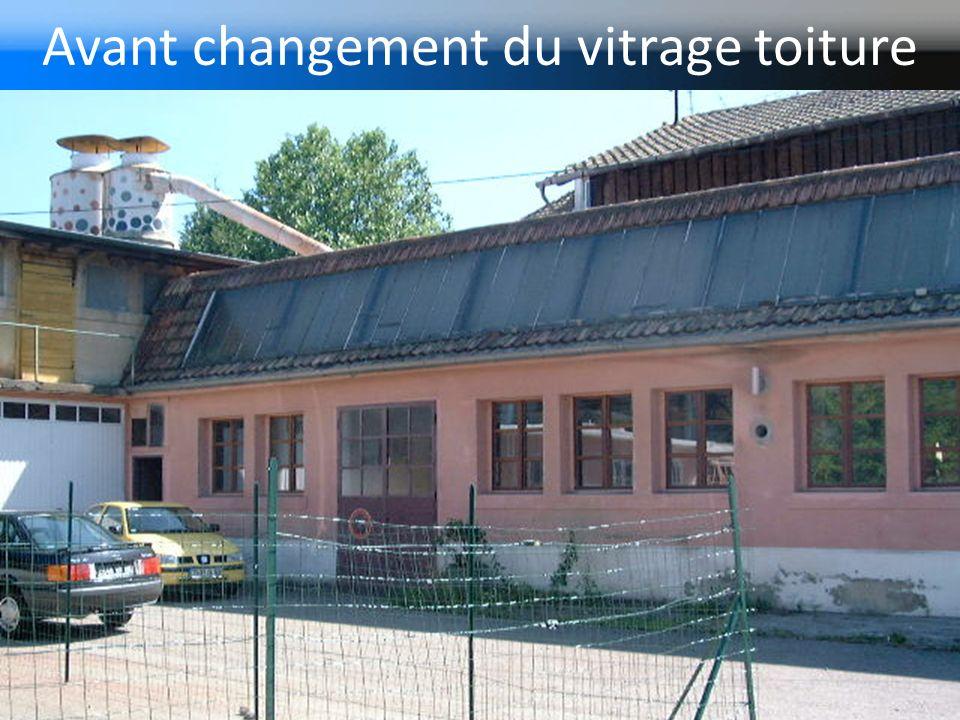 Avant changement du vitrage toiture