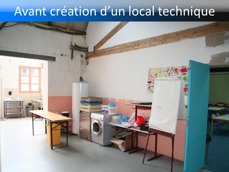 Avant création d'un local technique