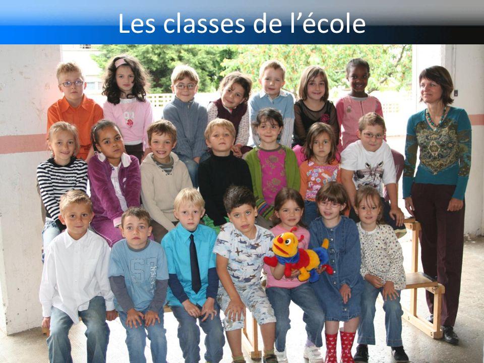 Les classes de l'école