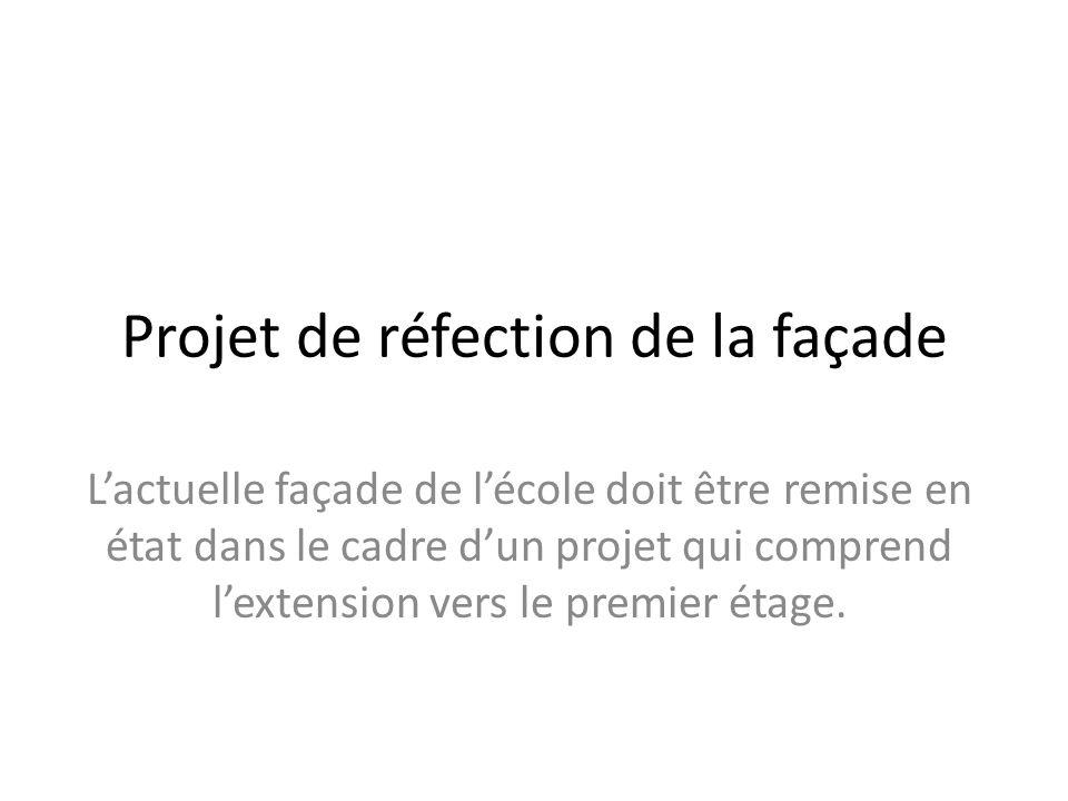 Projet de réfection de la façade