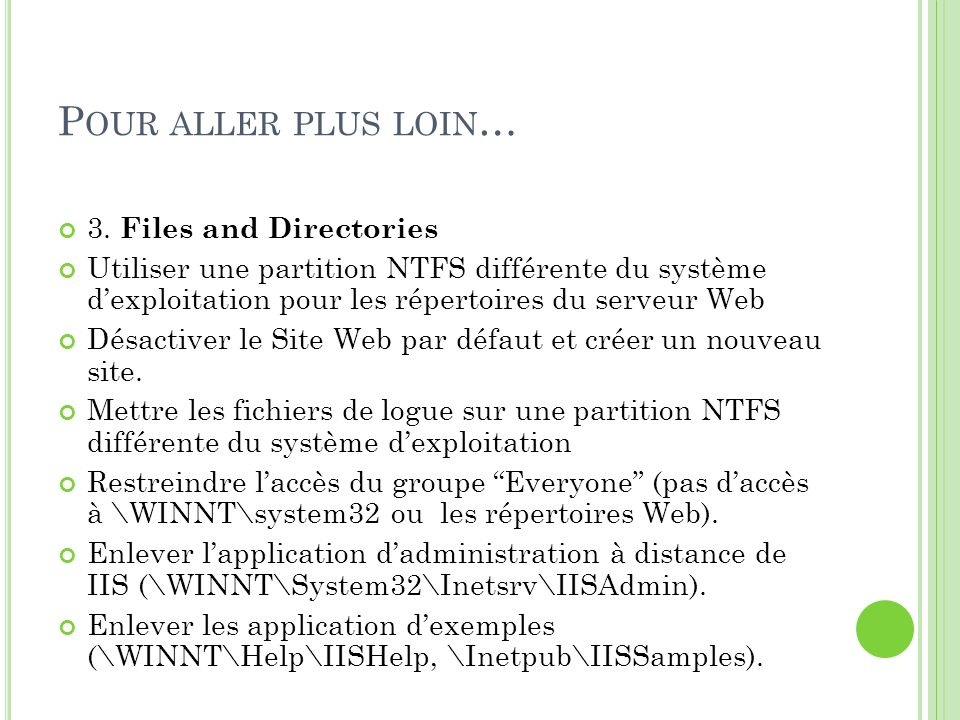 Pour aller plus loin… 3. Files and Directories