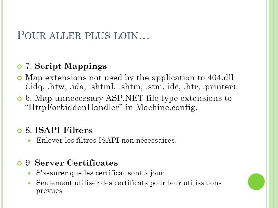 Pour aller plus loin… 7. Script Mappings