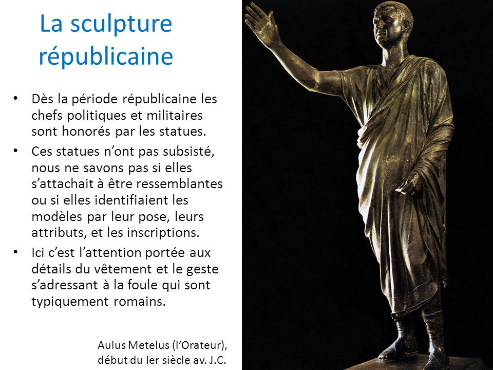 La sculpture républicaine