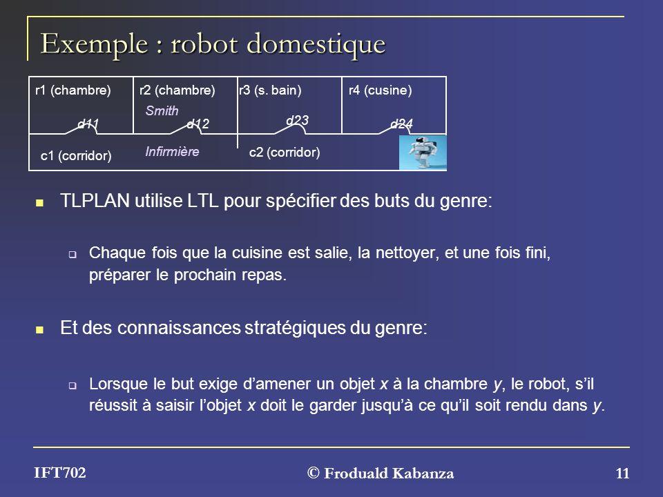 Exemple : robot domestique