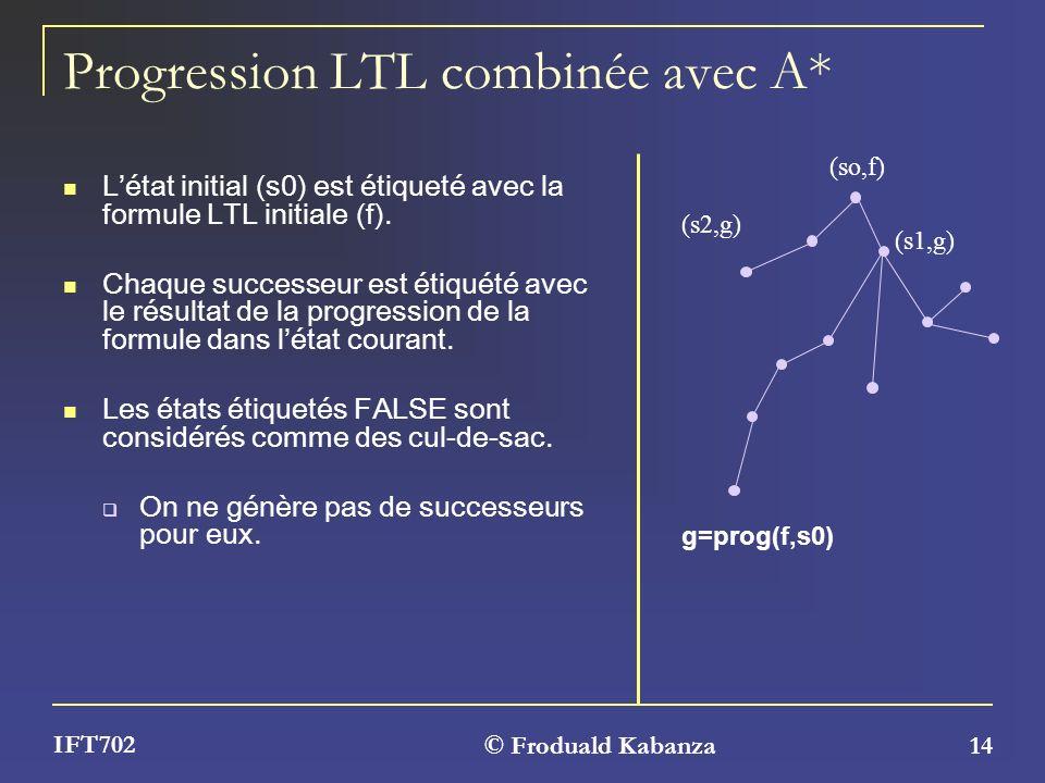 Progression LTL combinée avec A*