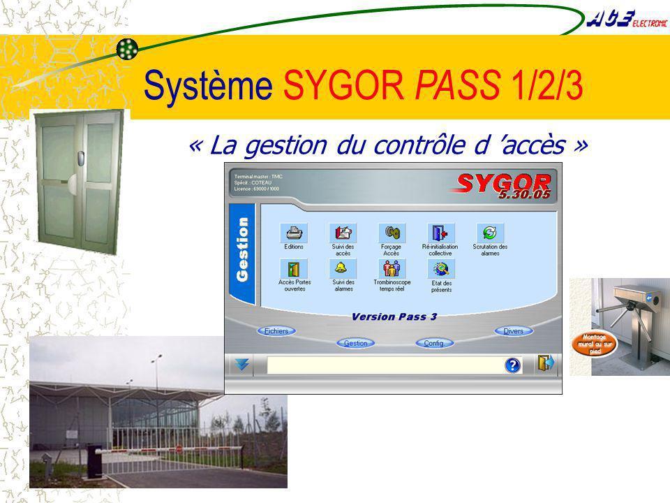 Système SYGOR PASS 1/2/3 « La gestion du contrôle d 'accès »