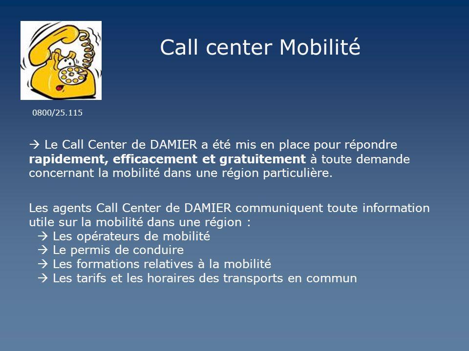 Call center Mobilité0800/25.115.