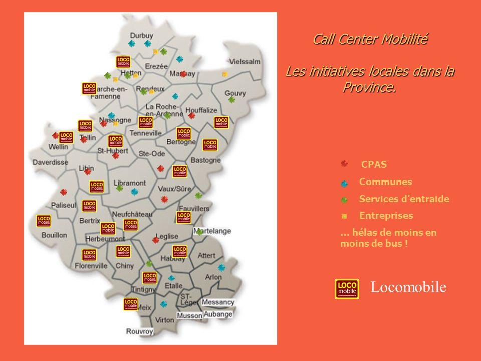 Call Center Mobilité Les initiatives locales dans la Province.