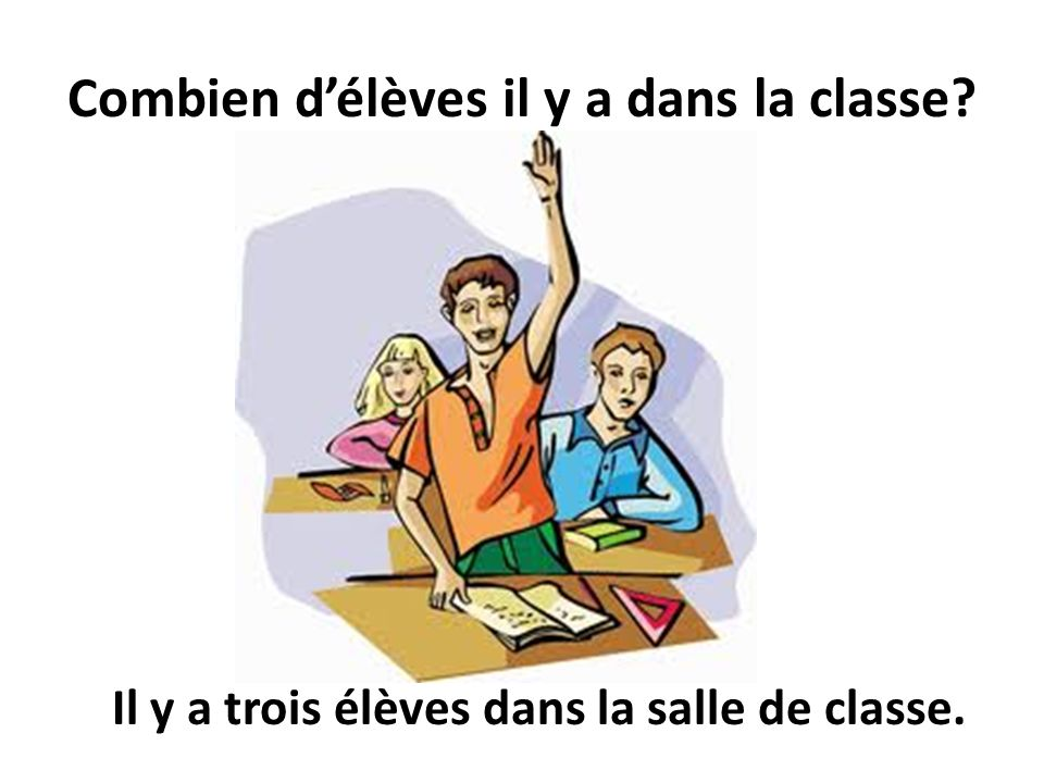 Combien d'élèves il y a dans la classe