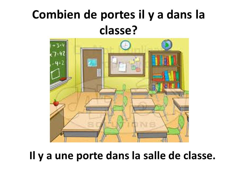 Combien de portes il y a dans la classe