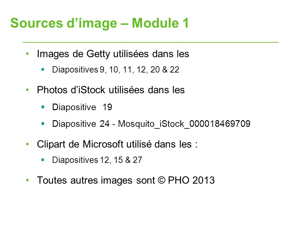 Sources d'image – Module 1
