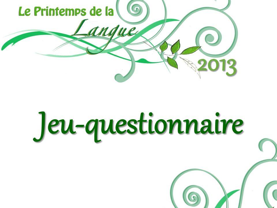 2013 Jeu-questionnaire. Consignes; Coupons: 1 participation, les autres pour chaque bonne réponse (subway, archambault, jeux de société_.