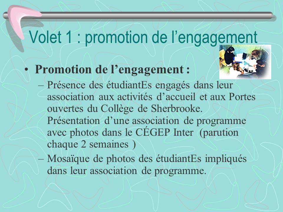Volet 1 : promotion de l'engagement