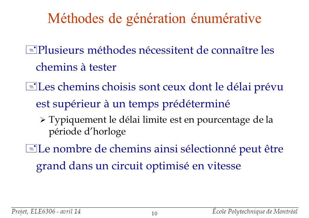 Méthodes de génération (1)