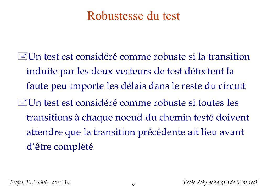 Robustesse du test (exemple)