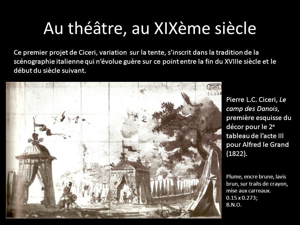 Au théâtre, au XIXème siècle