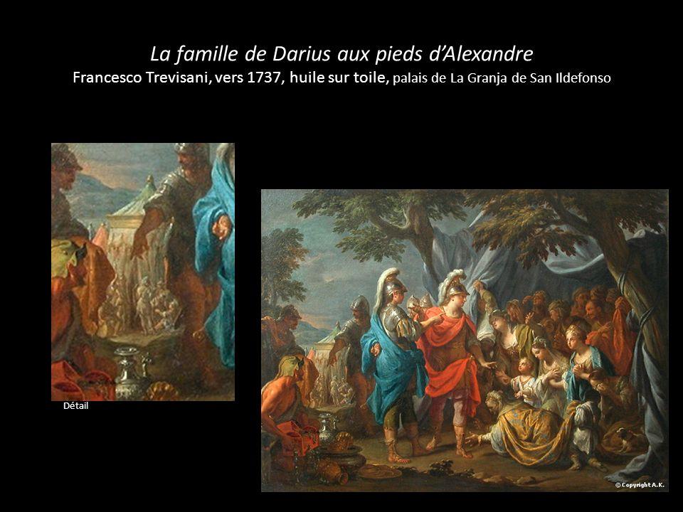La famille de Darius aux pieds d'Alexandre Francesco Trevisani, vers 1737, huile sur toile, palais de La Granja de San Ildefonso