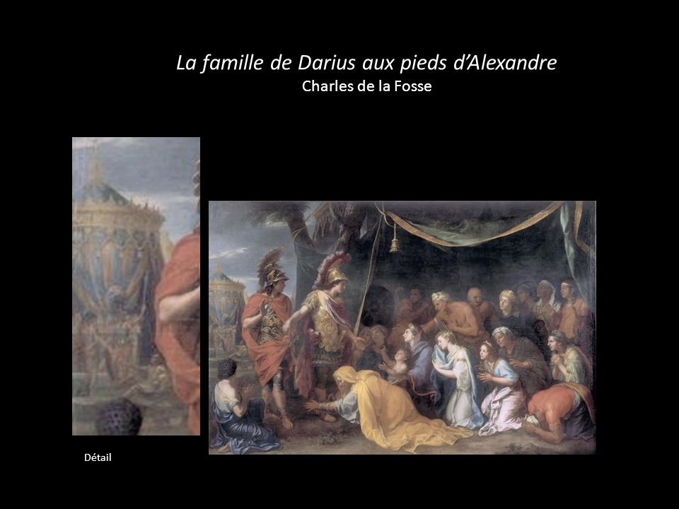 La famille de Darius aux pieds d'Alexandre Charles de la Fosse