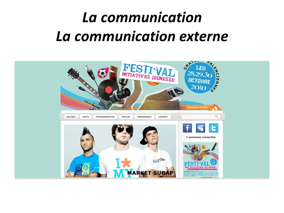 La communication La communication externe