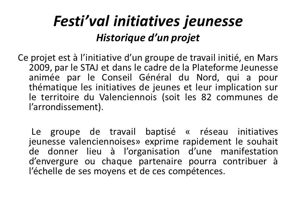 Festi'val initiatives jeunesse Historique d'un projet