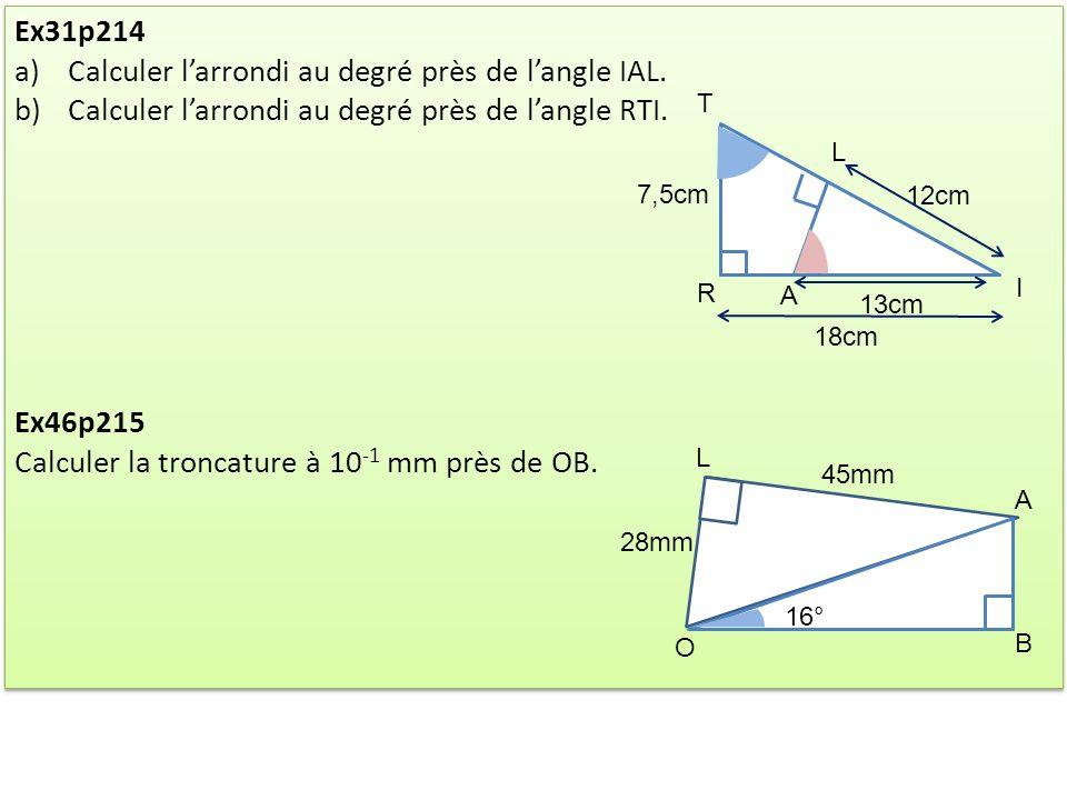 Calculer l'arrondi au degré près de l'angle IAL.