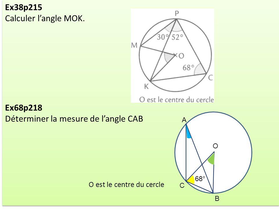 Déterminer la mesure de l'angle CAB