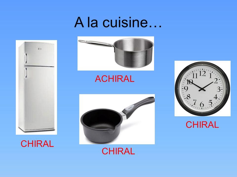 A la cuisine… ACHIRAL CHIRAL CHIRAL CHIRAL