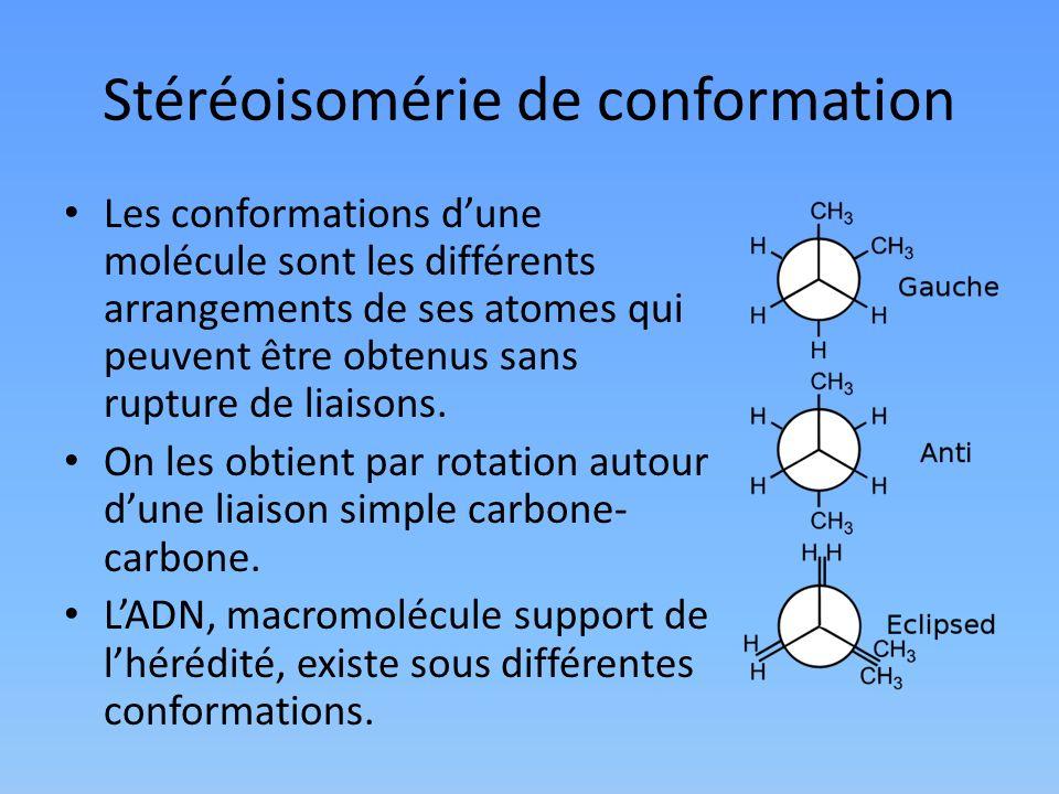 Stéréoisomérie de conformation
