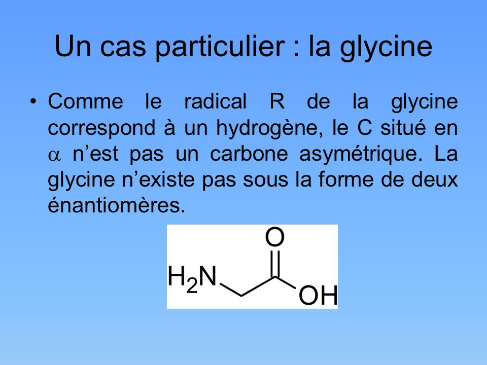 Un cas particulier : la glycine