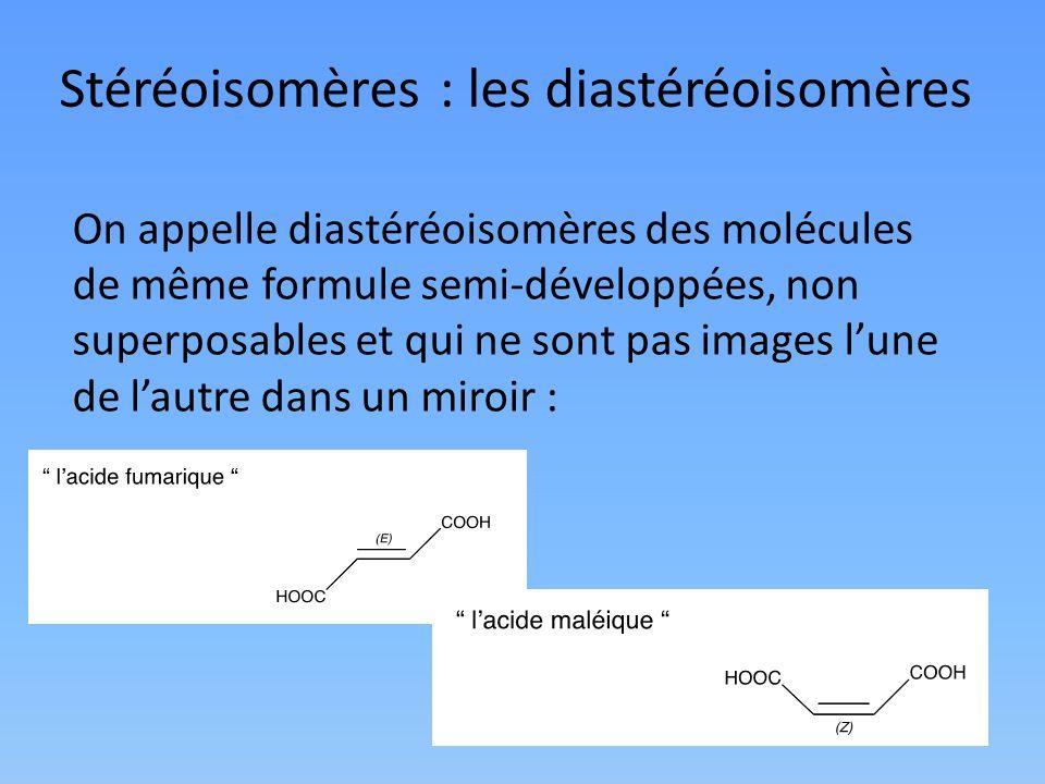Stéréoisomères : les diastéréoisomères