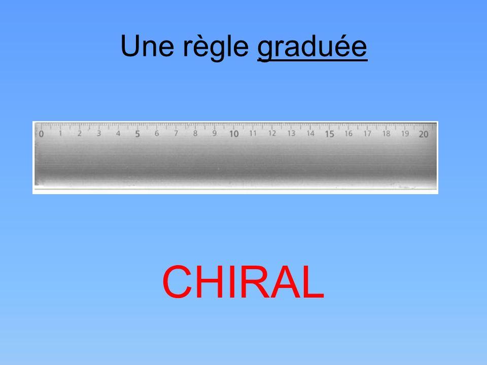 Une règle graduée CHIRAL