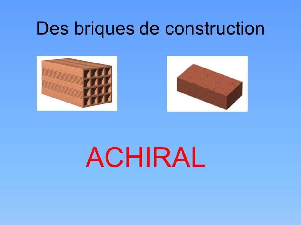 Des briques de construction