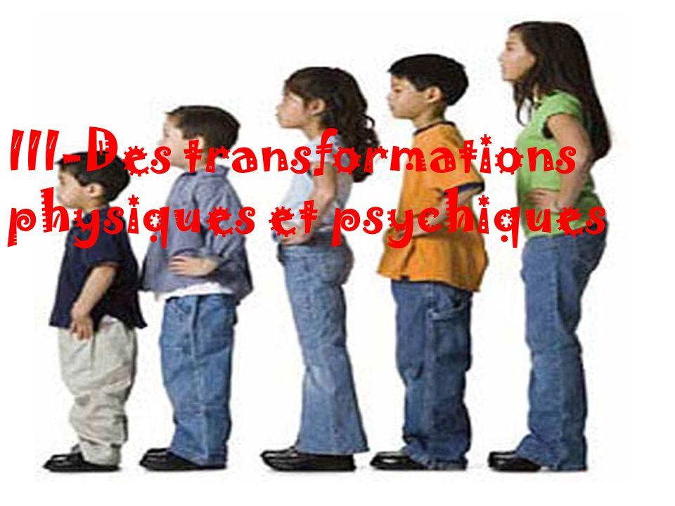 III-Des transformations