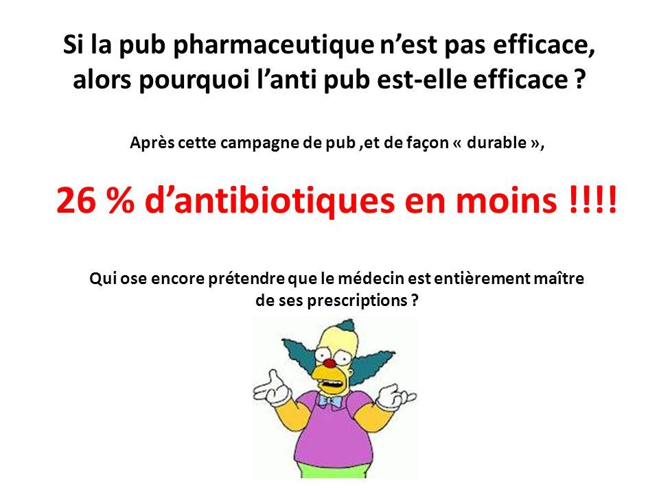 26 % d'antibiotiques en moins !!!!