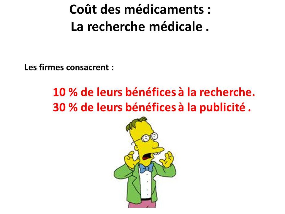Coût des médicaments : La recherche médicale .