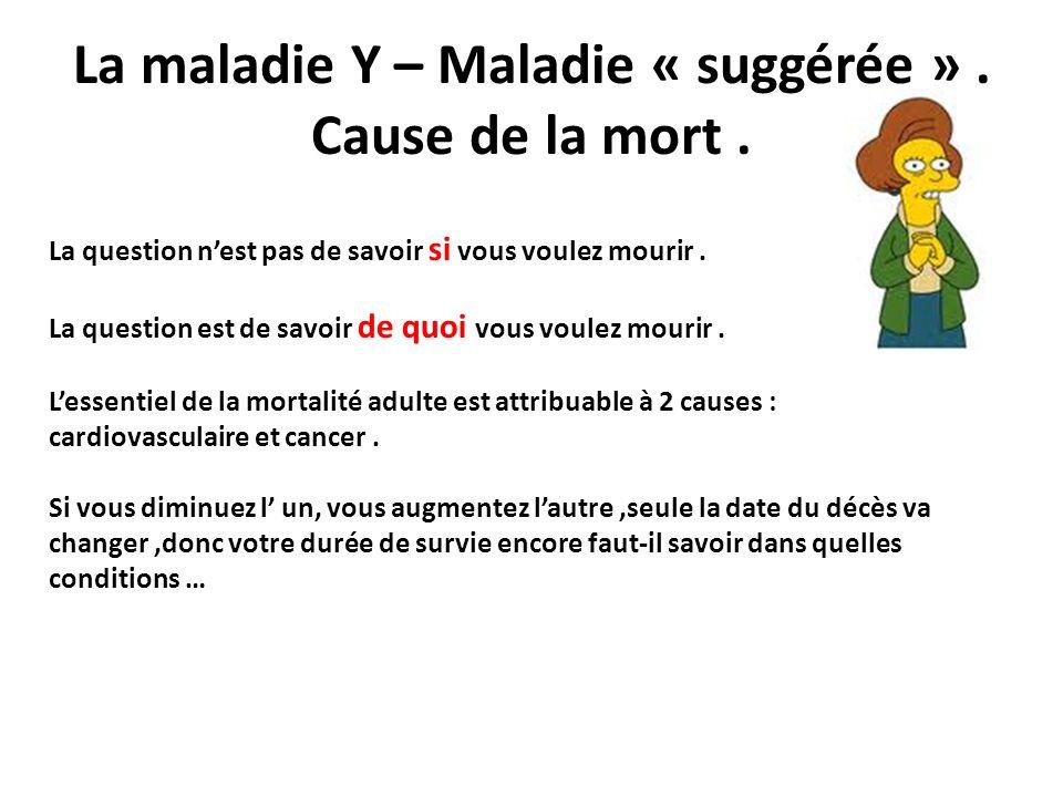 La maladie Y – Maladie « suggérée » . Cause de la mort .