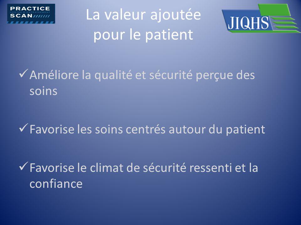 La valeur ajoutée pour le patient