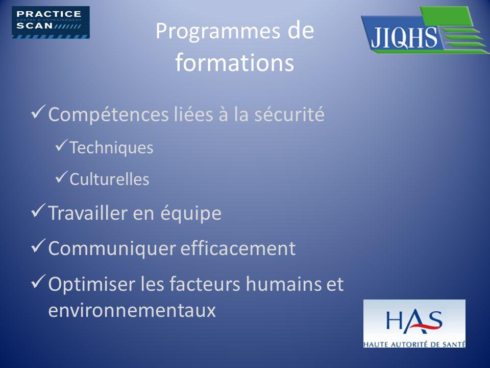 Programmes de formations
