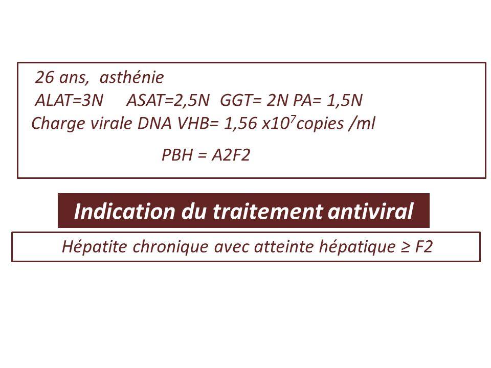 Hépatite chronique avec atteinte hépatique ≥ F2