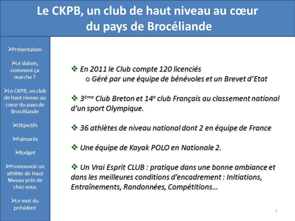 Le CKPB, un club de haut niveau au cœur du pays de Brocéliande