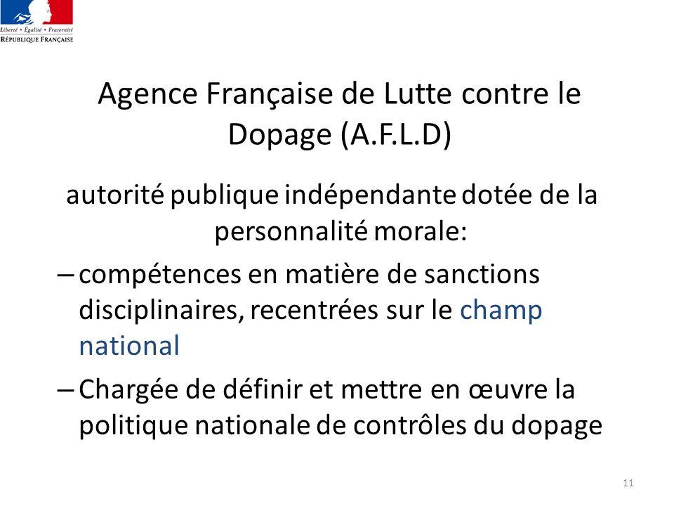 Agence Française de Lutte contre le Dopage (A.F.L.D)