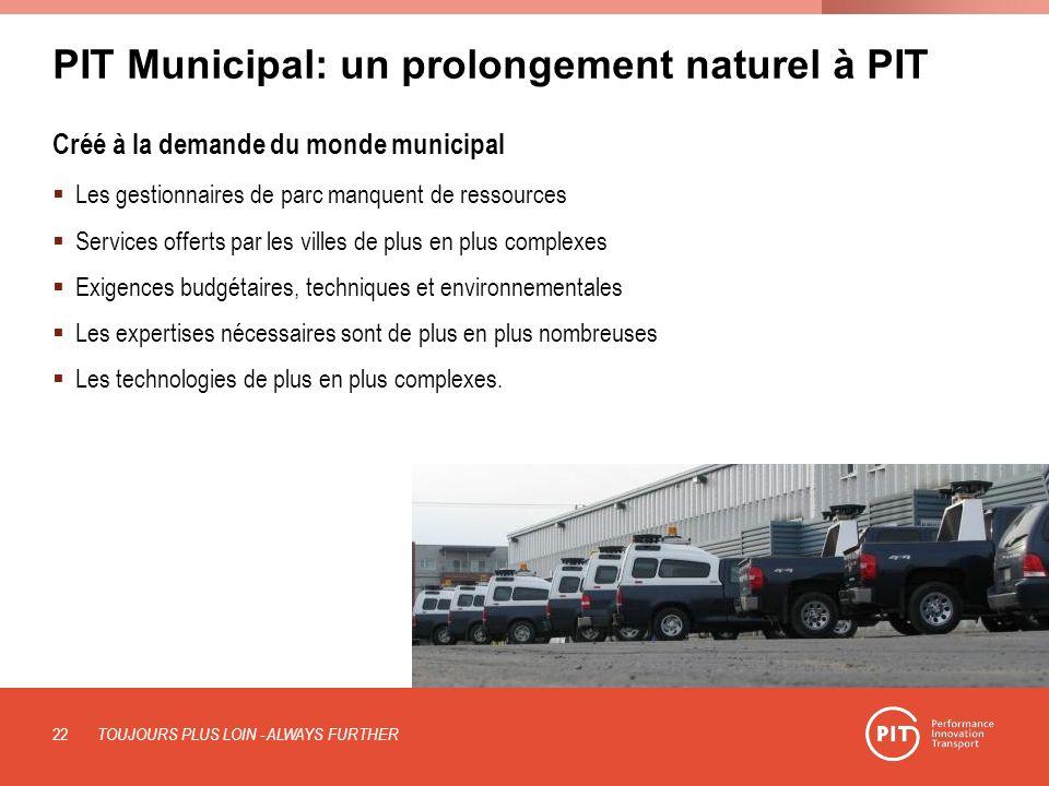 PIT Municipal: un prolongement naturel à PIT