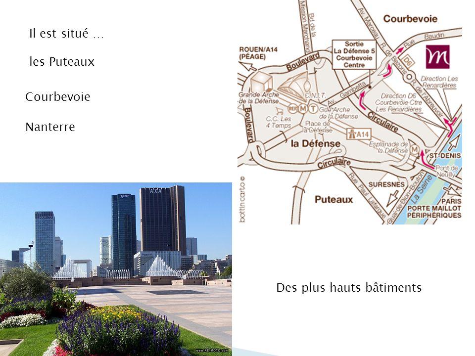 Il est situé … les Puteaux Courbevoie Nanterre Des plus hauts bâtiments