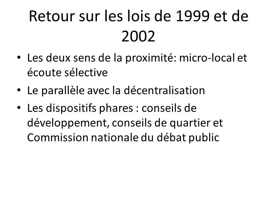Retour sur les lois de 1999 et de 2002