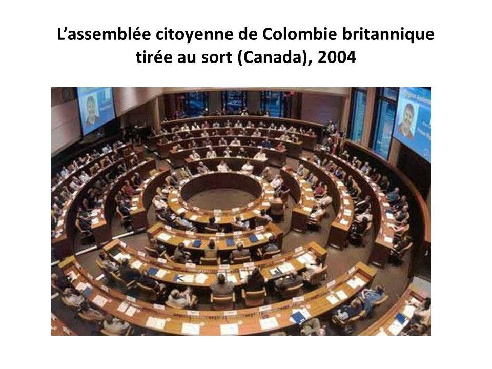 L'assemblée citoyenne de Colombie britannique tirée au sort (Canada), 2004