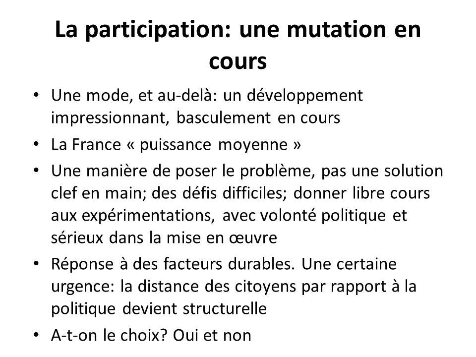 La participation: une mutation en cours